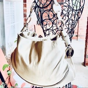 Yves Saint Laurent Cream Buttersoft Leather Bag